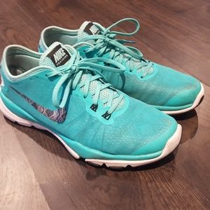 Teal Nike women's running shoes - 8